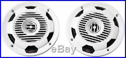 Pair MTX Audio WET77-W 7.7 300w Dual White Marine Boat Wakeboard Tower Speakers