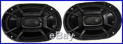 Pair Polk Audio 6X9 + Pair 6.5 Marine Boat Wakeboard Tower Speakers-Aluminum
