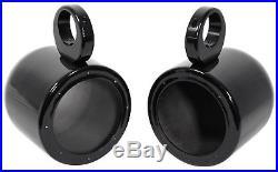 Pair Polk Audio 6.5 300 Watt Marine Wakeboard Tower Speakers+Amplifier+Amp Kit