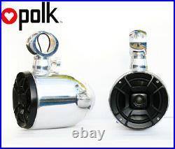 Pair Quick release Polished Aluminum Wakeboard Tower Speaker Polk DB652 Speaker