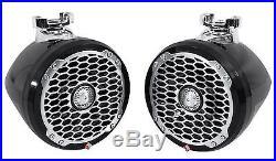 Pair Rockford Fosgate PM2652W-MB 6.5 340W Marine Mini Wakeboard Tower Speakers