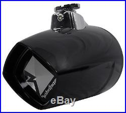 Pair Rockford Fosgate PM282W-B 8 400w Marine Wakeboard Tower Speakers+Receiver