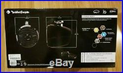Pair Rockford Fosgate RM1652W-MB 300W 6.5 Mini Wakeboard Tower Speakers-Black