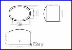 Pair Rockville 6x9 1000w Waterproof Marine Boat Tower Wakeboard Speakers White