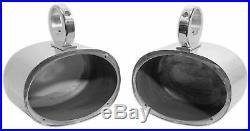 Pair Rockville 6x9 Polished Silver Aluminum Wakeboard Tower Speaker Enclosures