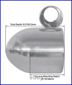 Pair Rockville 7.7 Polished Silver Aluminum Wakeboard Tower Speaker Enclosures