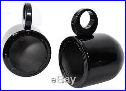 Pair Rockville MAC65B 6.5 Aluminum Wakeboard Tower Speaker Pod Enclosures