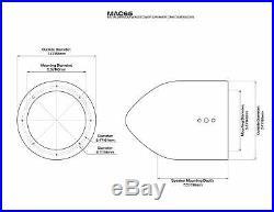 Pair Rockville MAC65B 6.5 Aluminum Wakeboard Tower Speaker Pod Enclosures, B