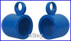 Pair Rockville MAC65-Blue 6.5 Aluminum Wakeboard Tower Speaker Pod Enclosures