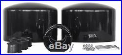 Pair Rockville MAC69B 6x9 Black Aluminum Wakeboard Tower Speaker Pod Enclosures