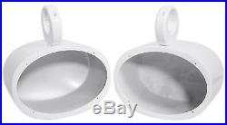 Pair Rockville MAC69W 6x9 White Aluminum Wakeboard Tower Speaker Pod Enclosures