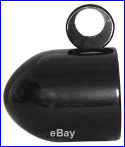 Pair Rockville MAC80B 7.7 Black Aluminum Wakeboard Tower Speaker Pod Enclosures