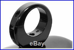 Pair Rockville MAC90B 8 Black Aluminum Wakeboard Tower Speaker Pods+Covers