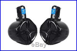 Pair Rockville RWB65B 6.5 Black 2 Way 250 Watt Marine Wakeboard Tower Speakers