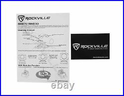 Pair Rockville RWB70W White 6.5 250w Marine Wakeboard 360° Swivel Tower Spea