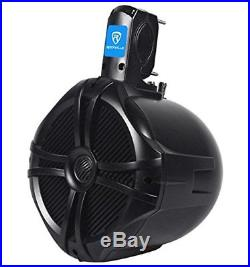 Pair Rockville RWB80B 8 Black 2 Way 300 Watt Marine Wakeboard Tower Speakers