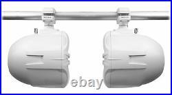 Pair Rockville RWB90W White 8 300w Marine Wakeboard 360° Swivel Tower Speakers