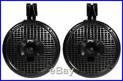 Pair SPORT6-Bi Power Sports 6 Marine Wakeboard Tower Speakers with Headlight