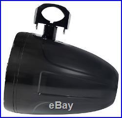 Pair SPORT8-Bi Power Sports 8 Marine Wakeboard Tower Speakers with Headlight