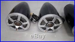 Pair Set of 4 Polk Audio MOMO 6.5 Black Marine Ski Wakeboard Tower Speakers