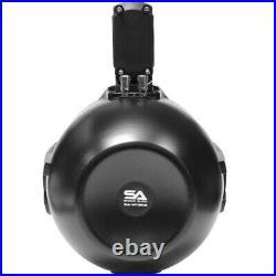 Pair of 300 Watt 8 Inch 2-Way Black Wakeboard Tower Speakers 600 Watts Total