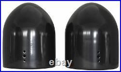 Pair of Rockville MAC90B 8 Black Aluminum Wakeboard Tower Speaker Pod Enclosure