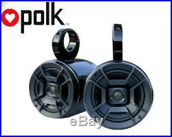Pair of UV Resist Black Coated Wakeboard Speaker Polk DB652 300W Marine Speaker