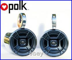 Pair of UV Resist Polished Wakeboard Speaker Polk DB652 300W Marine Speaker
