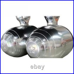 Pair of Wakeboard Tower Speakers Pods Adonized 6061 Aircraft Alloy
