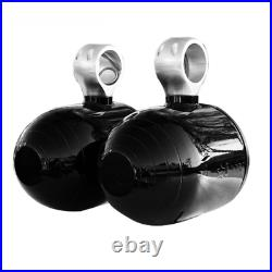 Pair of Wakeboard Tower Speakers Pods Glossy Black 6061 Aircraft Alloy