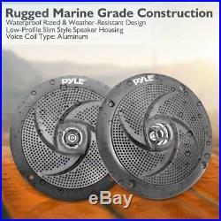 Pyle Marine Speakers 5.25 Inch Low Profile Slim Style Waterproof Wakeboard Tower