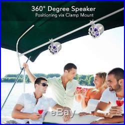 Pyle Marine Speakers 6.5 Inch Waterproof IP44 Rated Wakeboard Tower and