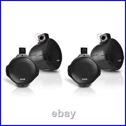 Pyle PLMRB65 6.5 Inch 200 Watt Marine Dual Tower Wakeboard Speakers (4 Pack)