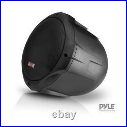 Pyle PLMRB85 8 inch 600W 2-Way Marine Wake Board Tower Pod Speakers Pair