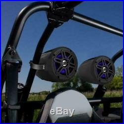 Pyle PLMRLEWB47BB Waterproof Rated Bluetooth Marine Tower Speakers Wakeboard