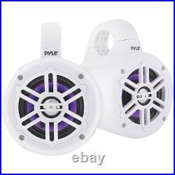 Pyle PLMRLEWB47WB 4-Inch 300-Watt Waterproof Marine Wakeboard Tower Speakers