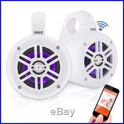 Pyle PLMRLEWB47WB Waterproof Rated Bluetooth Marine Tower Speakers Wakeboard S