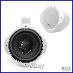 Pyle PLMRW85 8 inch 300W Two Way Monster Wake Board Tower Marine Speakers Pair
