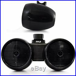 Pyle PLMRWB652LEB Marine Tower Wakeboard 6.5'' LED Speakers, Waterproof, Black