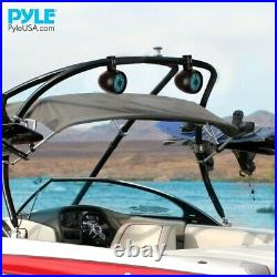 Pyle PLMRWB858LE 8 Inch 480 Watt Marine Rated Tower Wakeboard Speakers, Black