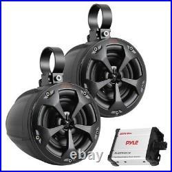 Pyle PLUTV42CH 4-Inch 800-Watt-Max Waterproof Marine Wakeboard Tower Speakers w