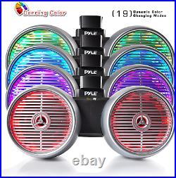 Pyle Plmrwb852Les 8 Inch 600 Watt Marine Dual Tower Wakeboard Speakers, Silver