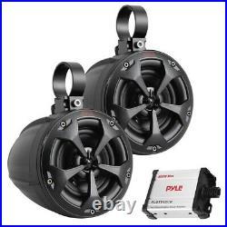 Pyle Plutv42Ch 4-Inch 800-Watt-Max Waterproof Marine Wakeboard Tower Speakers Wi