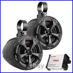 Pyle Plutv42ch 4-inch 800-watt-max Waterproof Marine Wakeboard Tower Speakers