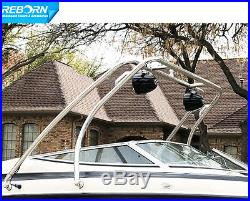 Reborn Thrust Boat Wakeboard Tower Polished Universal Fit Easy Installable