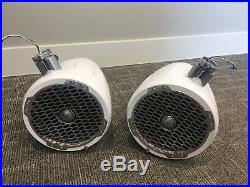 Rockford Fosgate M282 Wake-board White 8 Marine Boat Tower Speakers Used Pair