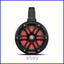 Rockford Fosgate M2WL-8B Color Optix 2-Way Marine Wakeboard Tower Speakers Black