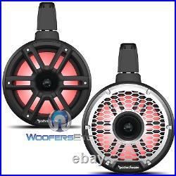 Rockford Fosgate M2wl-8hb Black 8 Led Marine Boat Wakeboard Tower Horn Speakers