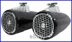 Rockford Fosgate PM2652W-B 6.5 Punch Audio Marine Wakeboard Boat Tower Speakers
