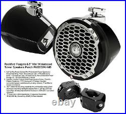 Rockford Fosgate PM2652W-MB Punch Series 6.5 mini wakeboard tower boat speakers
